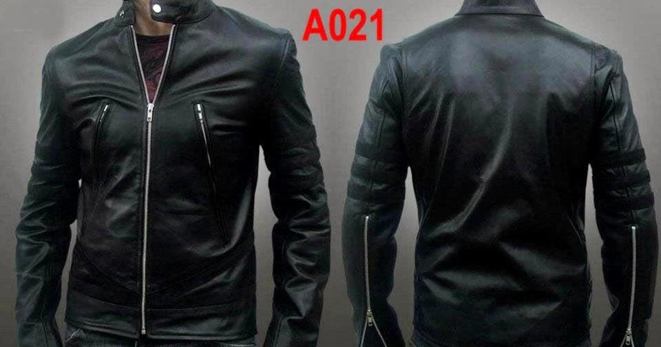 A021 Jaket Kulit Pria