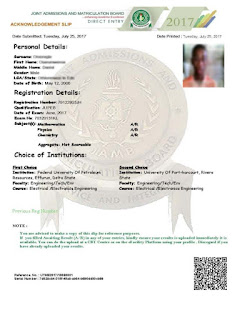 jamb slip retrieval - jamb direct entry slip Retrieve