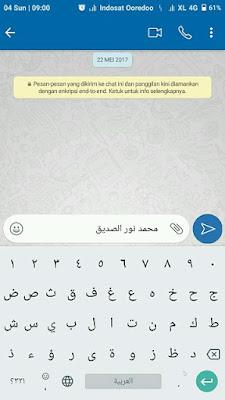 Menulis teks arab