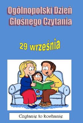 Plakat informujący o Ogólnopolskim Dniu Głośnego Czytania