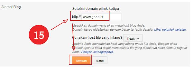 Masukkan domain