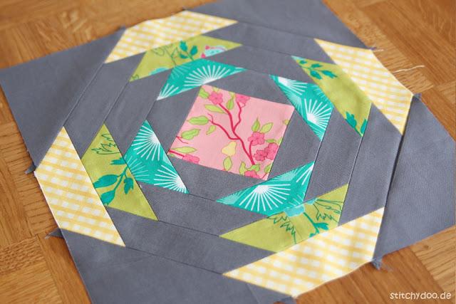 stitchydoo: Pineapple Patchwork Block | 6 Köpfe - 12 Blöcke Sampler Quilt