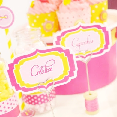 DIY Cotton Reel Place-Card Holders