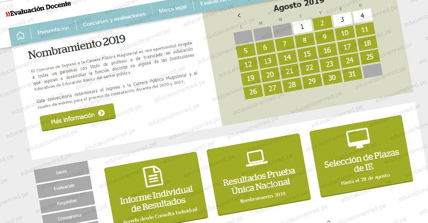 MINEDU amplía Etapa de Selección de Plazas hasta el 28 de Agosto - Nombramiento Docente 2019 [R. VM. N° 210-2019-MINEDU]