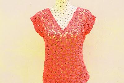7 - Crochet IMAGENES Blusa de corazones muy fácil y sencilla. MAJOVEL CROCHET