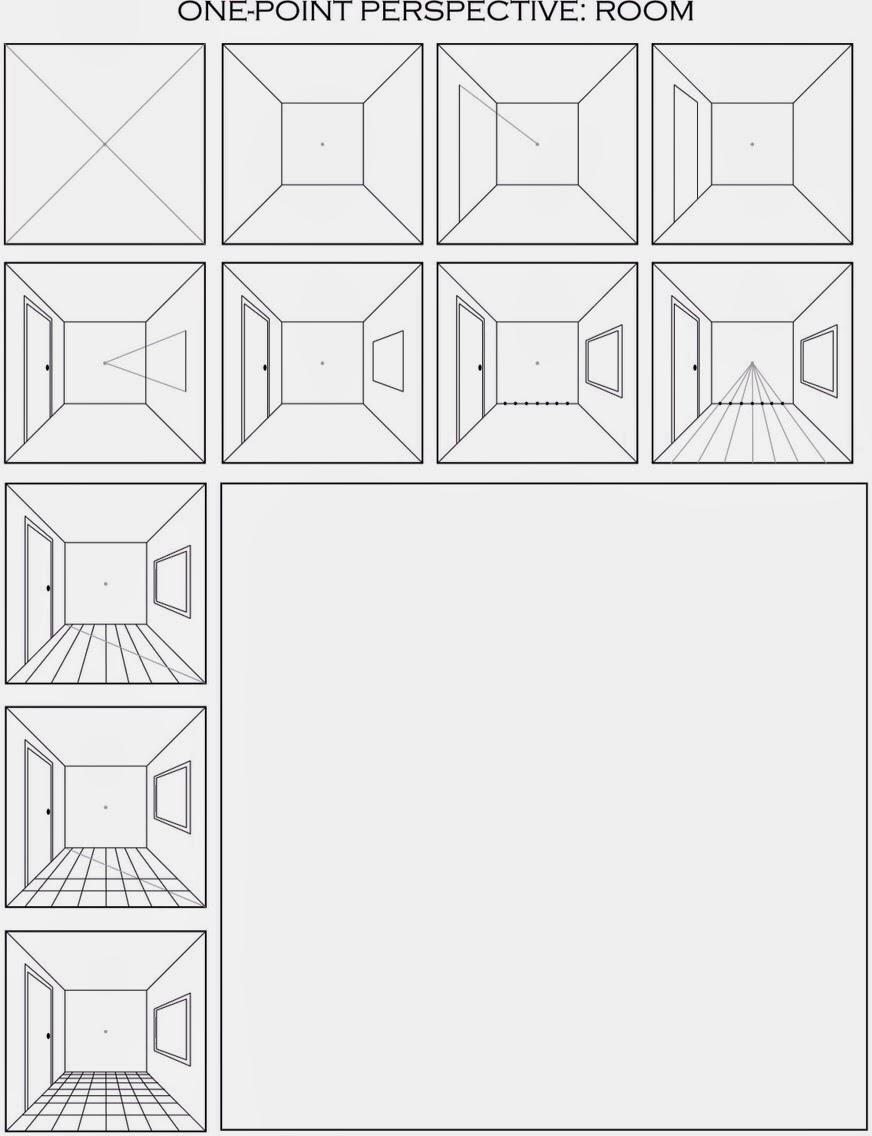 The Helpful Art Teacher: Draw a Surrealistic Room in One