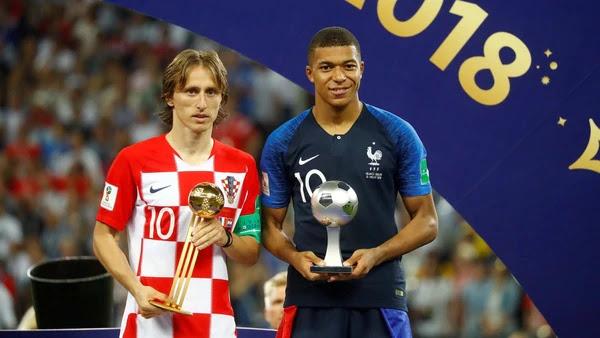 Modric electo mejor jugador de Rusia 2018 junto a Mbappé, el jugador revelación / REUTERS