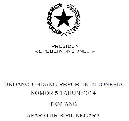 UU ASN Nomor 5 Tahun 2014