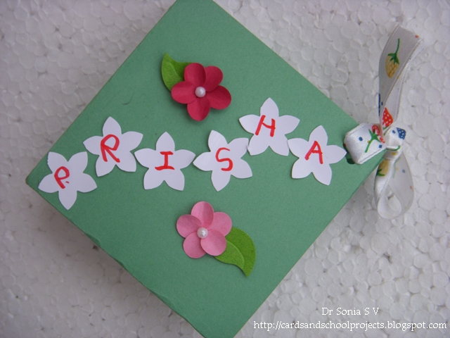 Cards crafts kids projects squash book tutorial for Art and craft file cover decoration