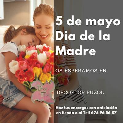 Flores dia de la madre en Puzol