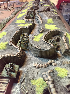 British infantry defend their trench in Trench Hammer