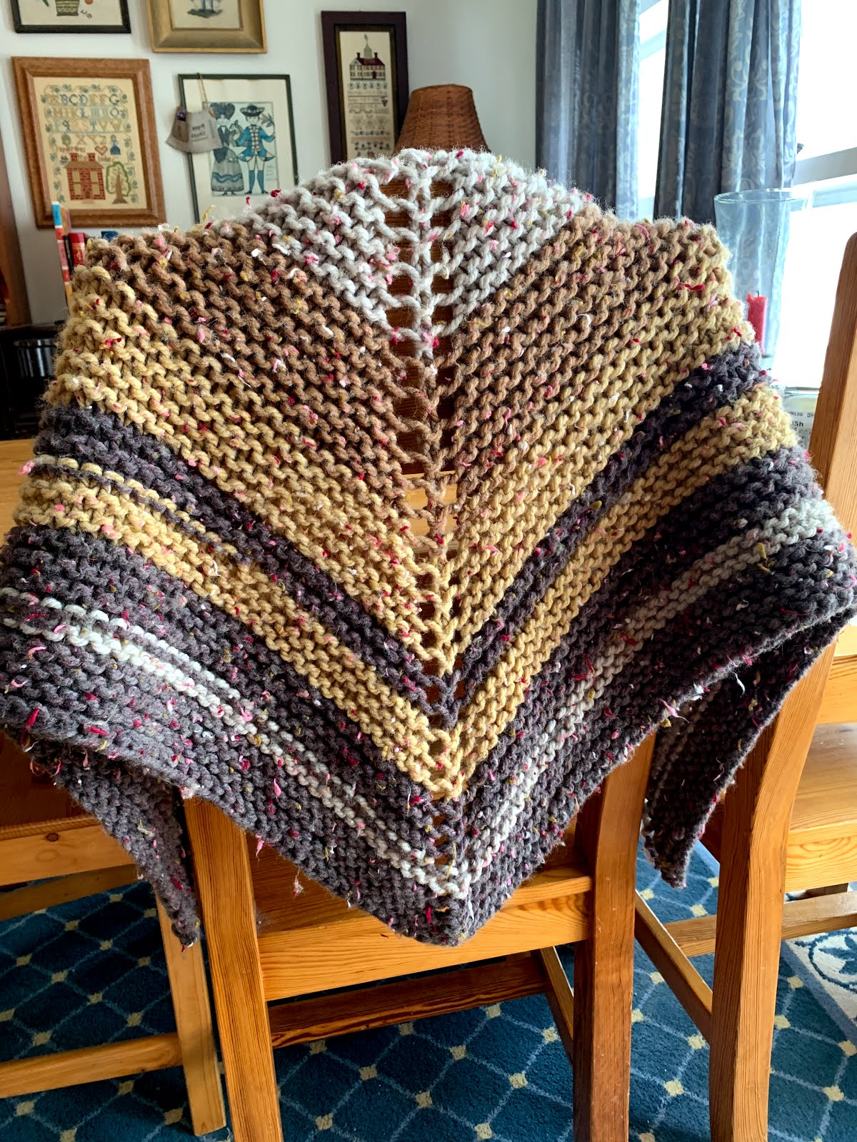 Iced Coffee Shawl