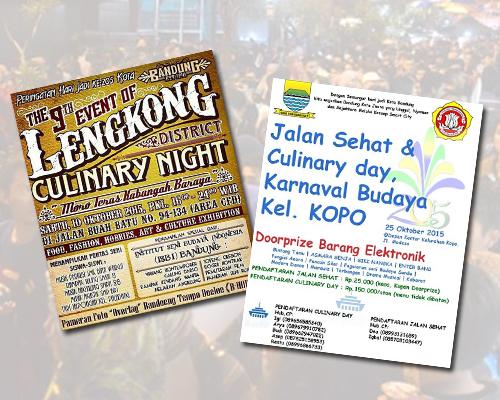 Info Jadwal Event Culinary Night di Bandung Bulan Oktober 2015