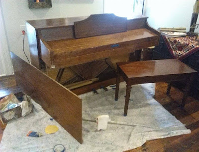 Piano Makeover Before