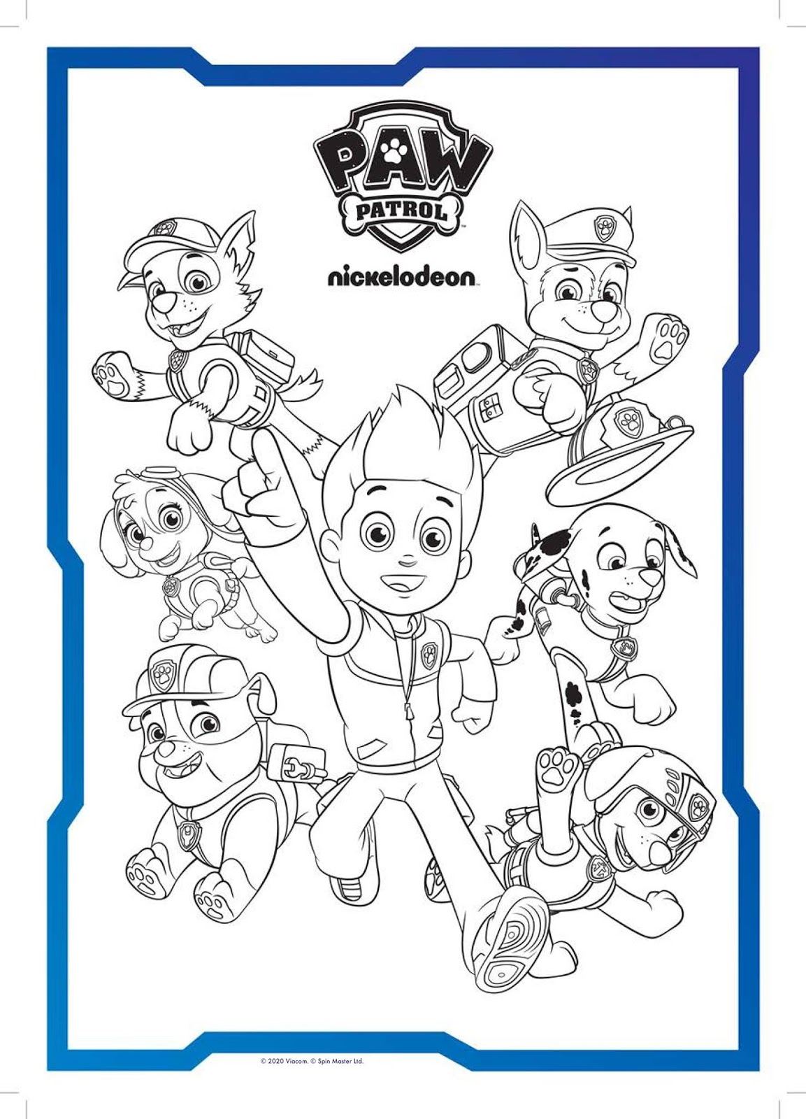 NickALive!: PAW Patrol Coloring In Sheets | Nick Jr. Color