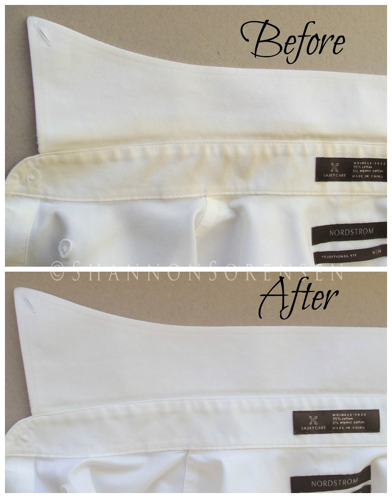Shannon Sews: Remove yellow shirt stains + ring around the ...