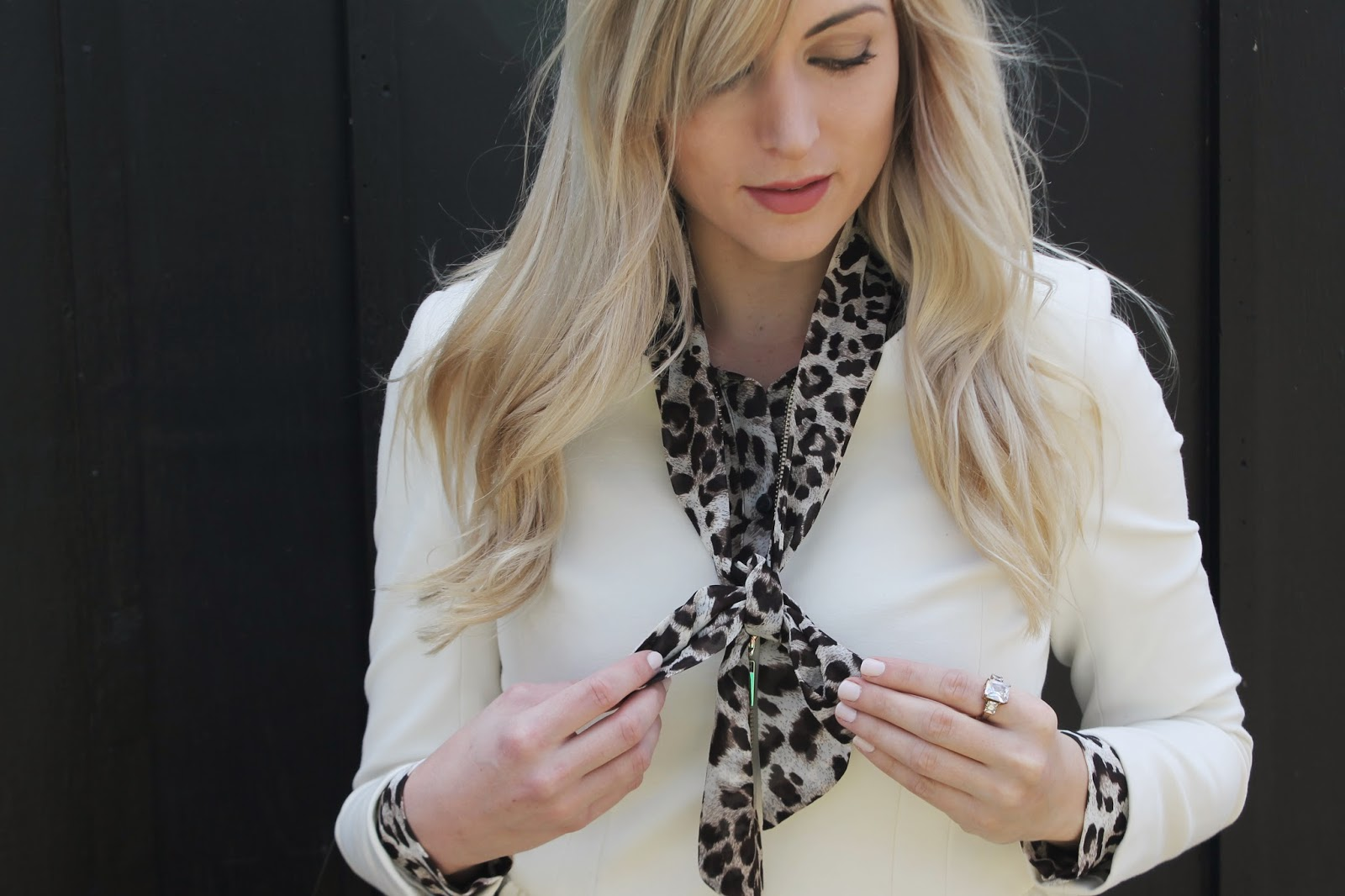 outfit idea with a peplum blazer
