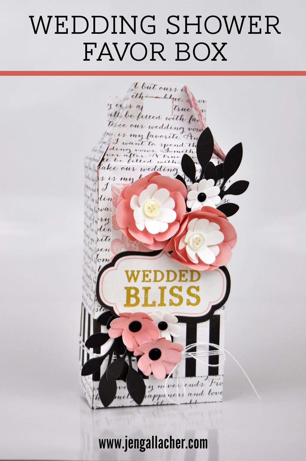 Die Cut Wedding Shower Favor Box | Jen Gallacher