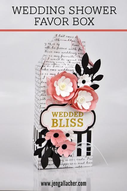 Die Cut Wedding Shower Favor Box
