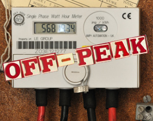 Option to have Electricity bills split into peak and off peak hours