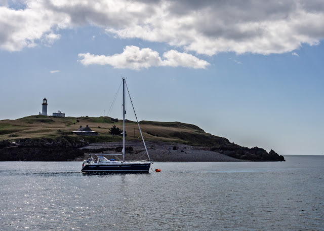 Photo of the yacht that arrived while we were anchored off Little Ross Island