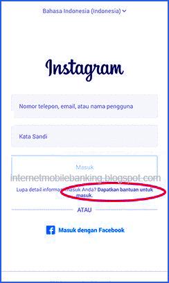 Cara Membuka Instagram Yang Lupa Password & Email no. Hp Fb