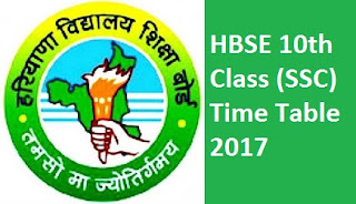HBSE 10th Time Table