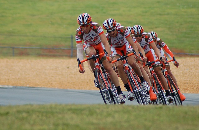 Several Bike Racers on a Ride