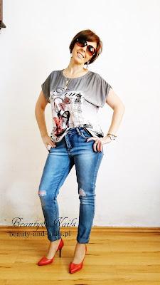 RoseWholesale - letnio, szara koszulka i śliczne kolczyki :)