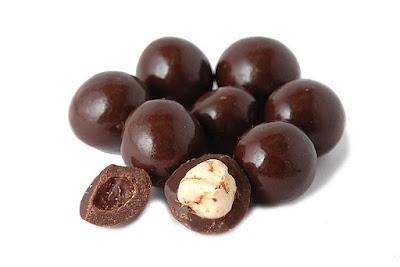 Noisettes enrobées de chocolat - Recette allégée