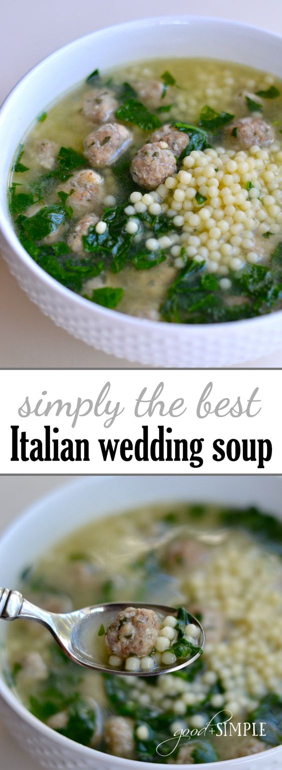 ★★★★★ 6 Review : BEST ITALIAN WEDDING SOUP EVER #italianfood #italiansoup #bestsoup #italianwedding #soup #souprecipes