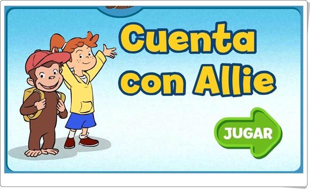 """Curious George: """"Cuenta con Allie"""" (Juego de números del 1 al 20)"""