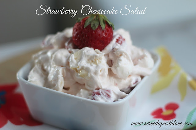 Strawberry Cheesecake Salad recipe from Served Up With Love