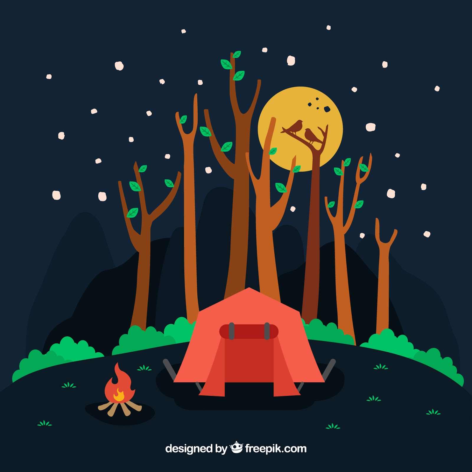 Work related freepik 02 azreenchan night camping in the forest stopboris Gallery