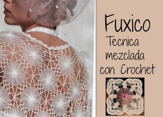 Fuxico y Crochet unidos en un bello Tutorial