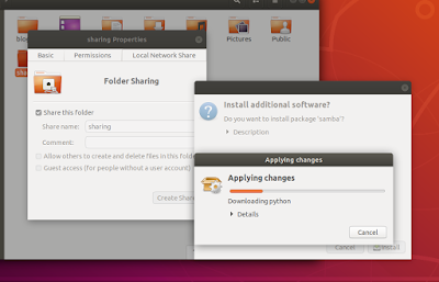 Membuat Folder Sharing di Linux