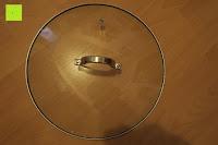 Deckel oben: Edelstahl Induktion Kochtopf 20 Liter (Suppentopf mit Glasdeckel, großer Topf, 32 x 25 cm, Dampfloch)