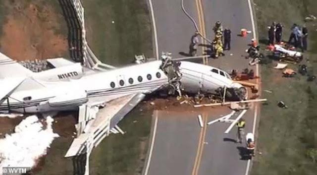 Máy bay Mỹ trượt khỏi đường băng