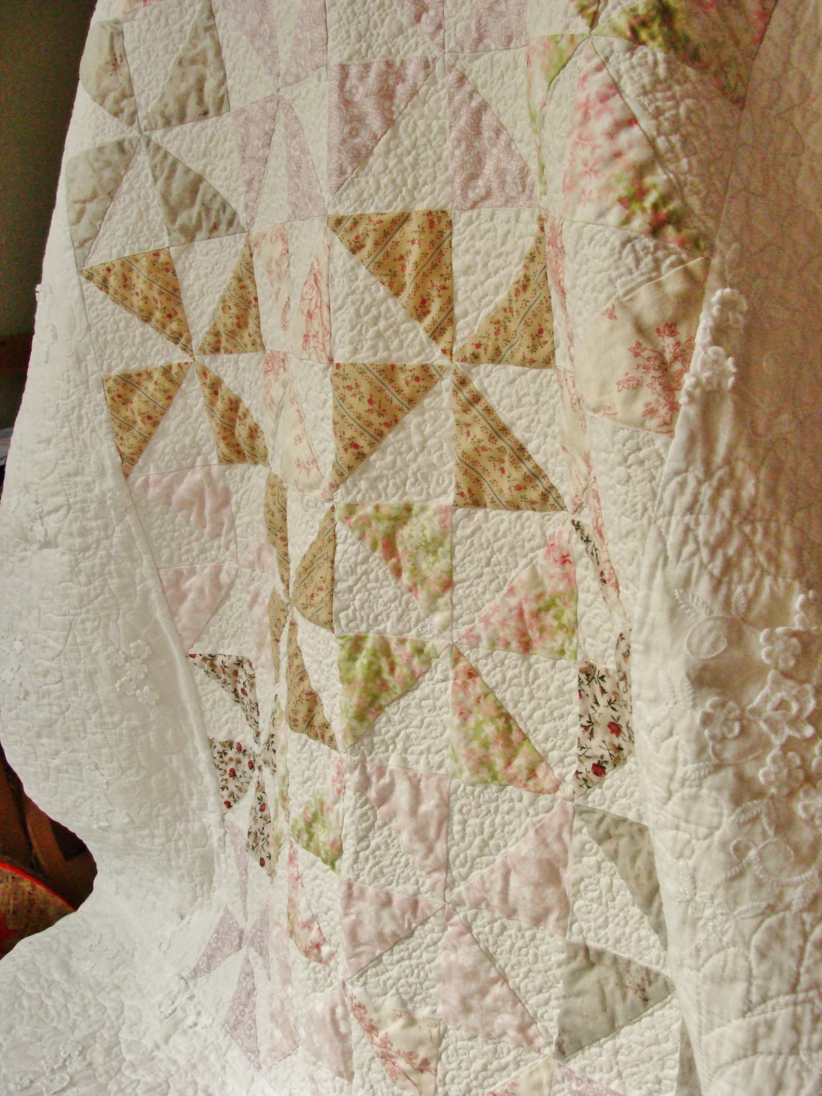 Sew Loved By You Shabby Chic Pinwheel Quilt