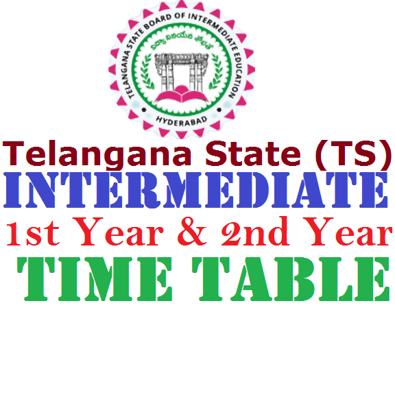 Telangana TS Intermediate 1st year 2nd Year Time Table
