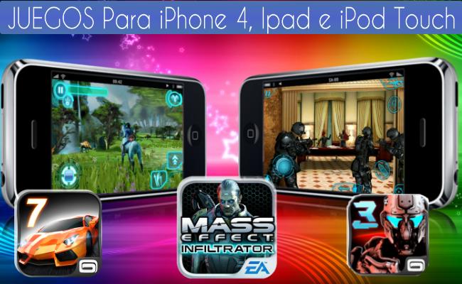 descargar gratis juegos iphone 4s