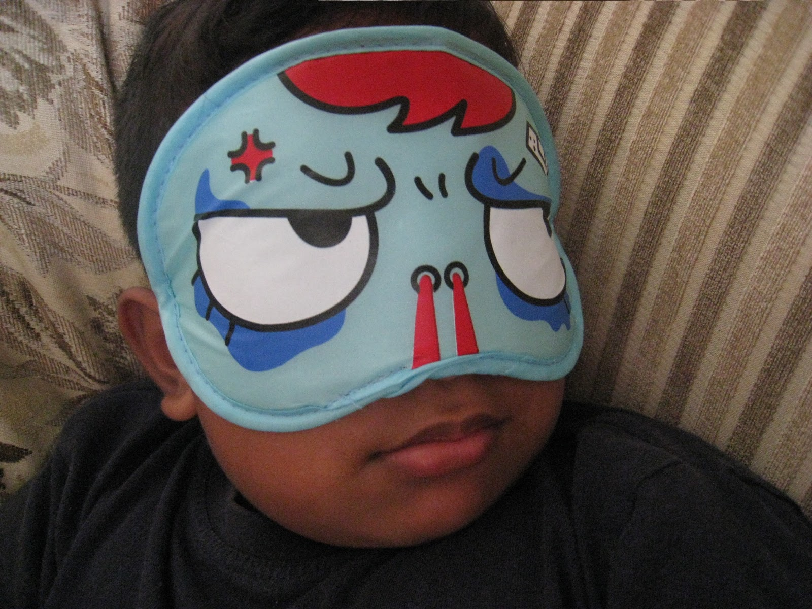 Eye Mask -- Free Pattern & Tutorial My granddad collected teddy bears for years and gave several away as gifts to us grand kids a few years back. This one is one of Olivia's favorite stuffed animals. Sleep Mask: Works Great! Eye Mask -- Free Pattern & Tutorial; Feeling Better (sort of) .