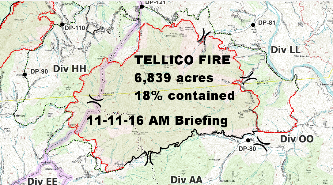 Tellico Fire  Overall View