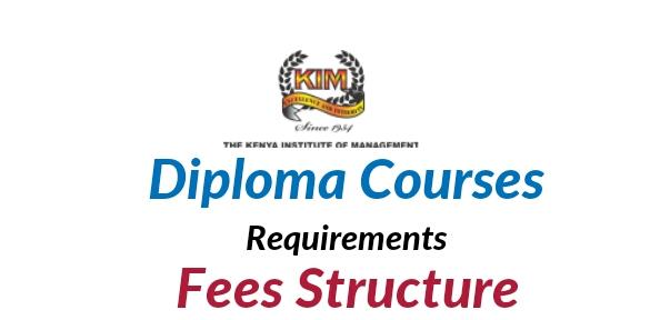 KIM diploma requirements and fees 2018