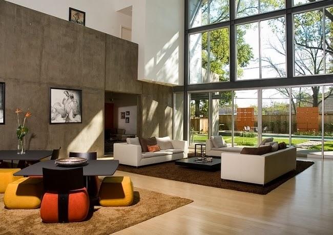 Salas decoradas con paredes de concreto salas con estilo - Piedra decorativa interior ...
