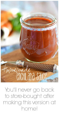 Homemade Enchilada Sauce Collage, you'll never go back to store bought after making this version at home.