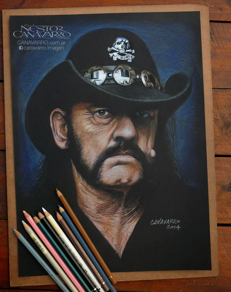 10-Lemmy-Nestor-Canavarro-Celebrity-Portraits-Animated-Drawings-www-designstack-co