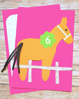 Einladungskarte Pferd MARLON