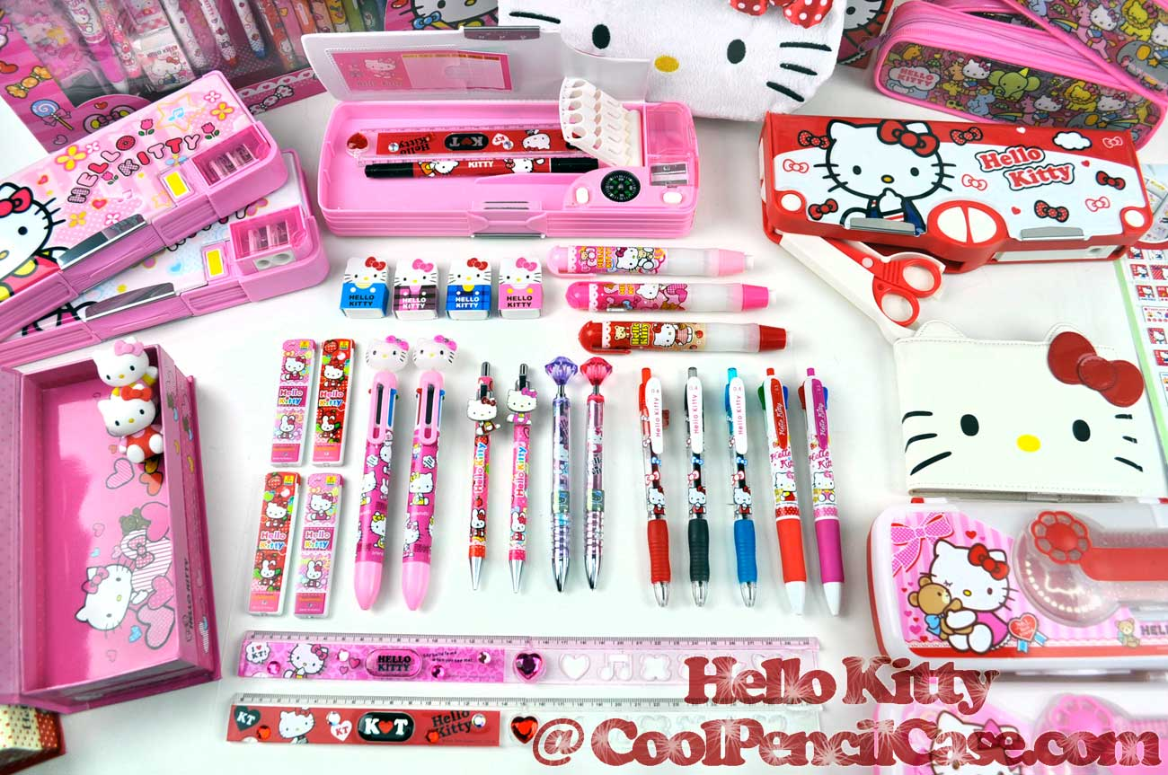 Hello Kitty Pencils Pens Erasers Pencil Cases
