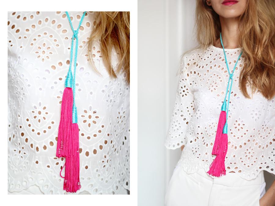 Diy Braided Tassel Necklace Karamode